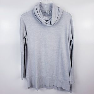 Gap Softspun Cowl Neck Pullover Sweater Grey Med